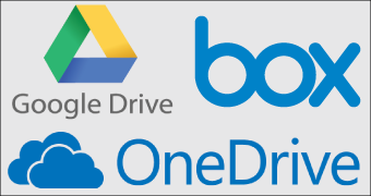 Secure Cloud Storage Solutions for Business - Google Drive, Microsoft OneDrive and Box.
