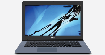 Dell Laptop LCD Screen Damage Replacement.